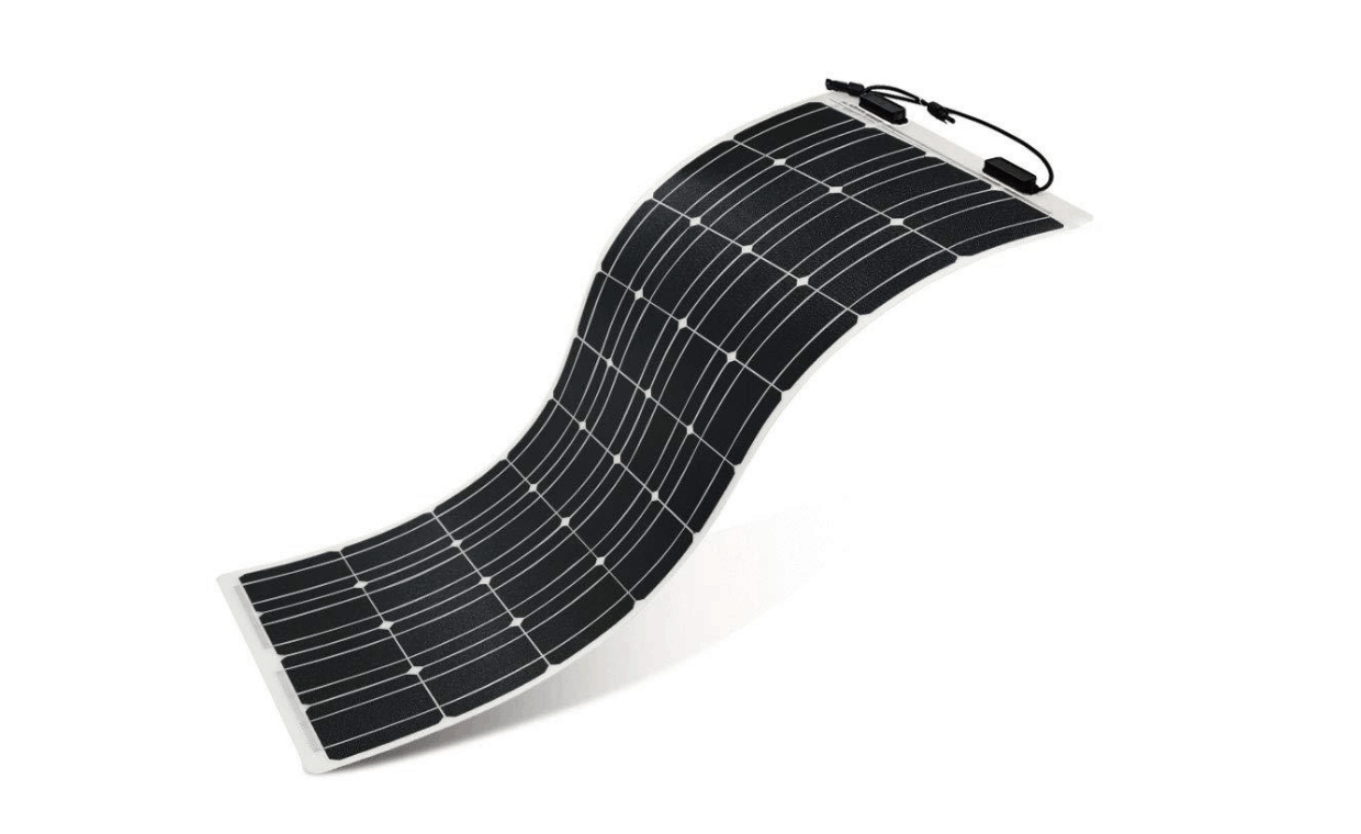 Image of solar panel being bent