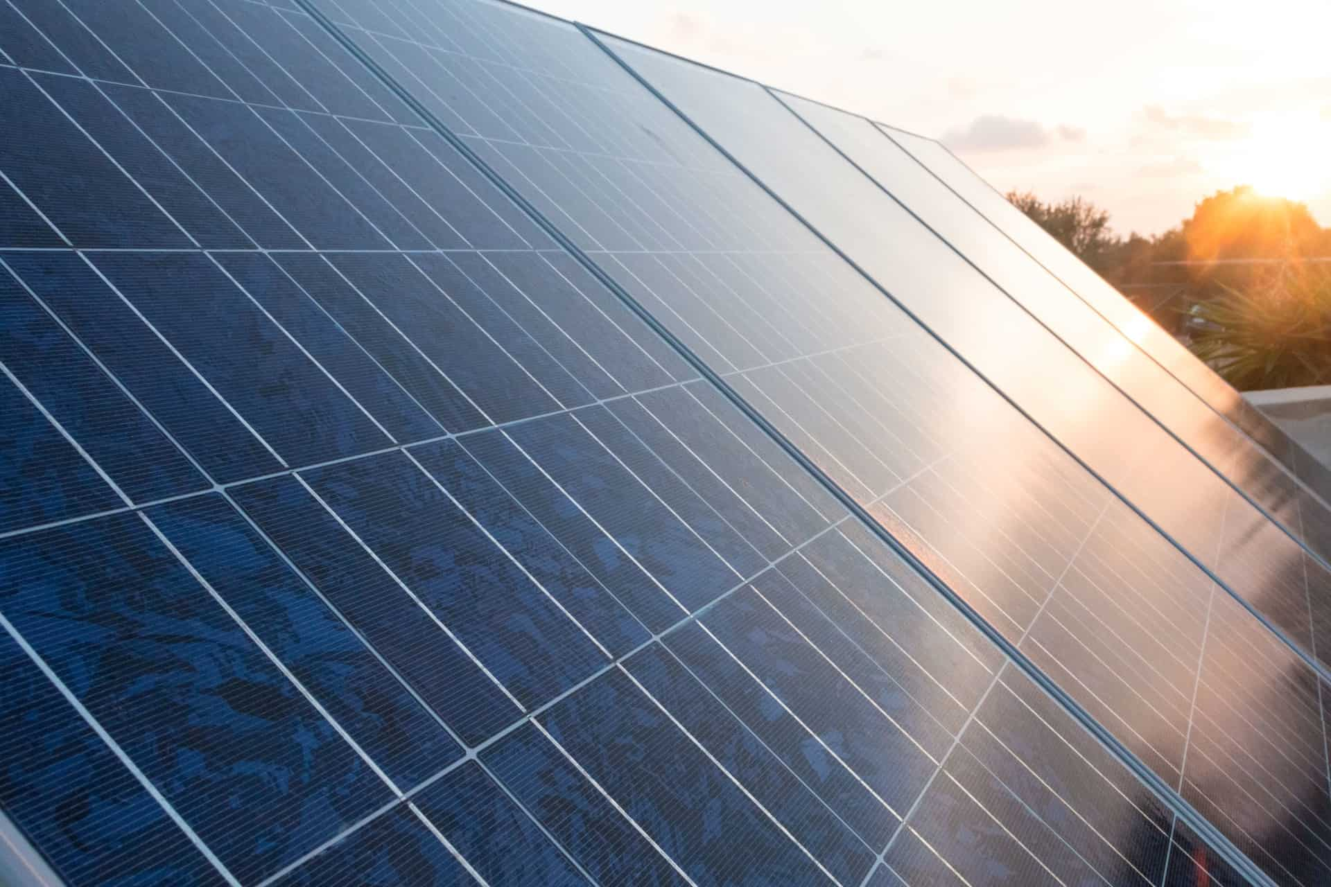 close up up image of a solar panel