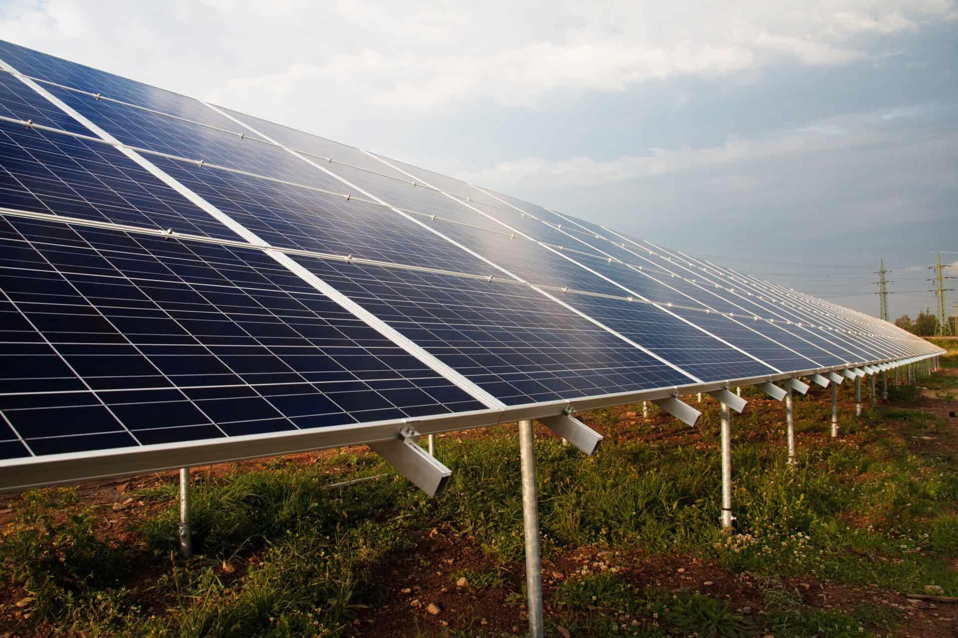 a ground mount solar array